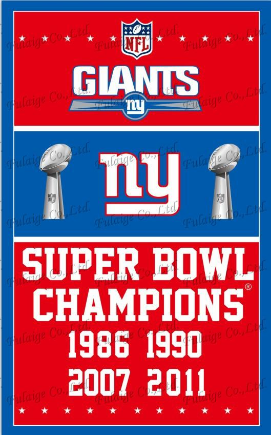 York Giants Flag 3ft X 5ft Polyester Nfl York Giants Banner Flying Size No.4 150* 90cm Custom Flag