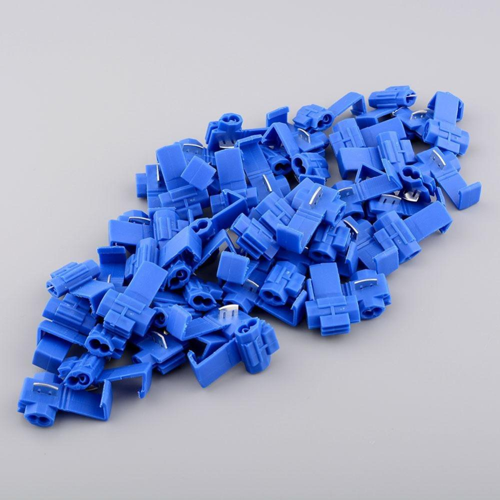 OEM Blue Plastic 50pcs Electric Quick Splice Wire Terminals Cable Connector Solderless 14-18 Gauge AWG