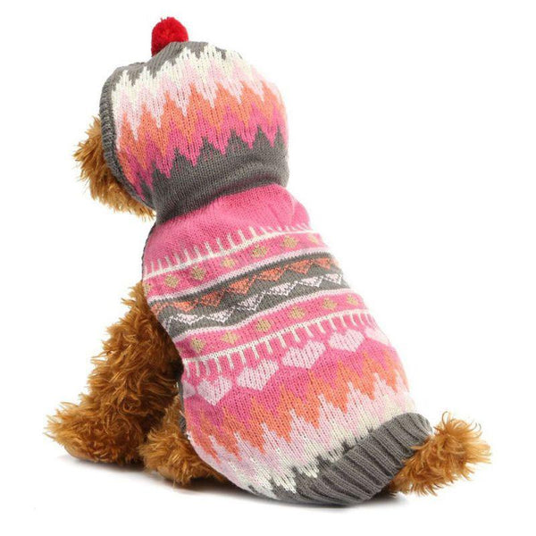 Pet Clothes Fashion Keep Warm Dog Clothing Small Dog Knit Sweater With Hooded Christmas Costume For Puppy