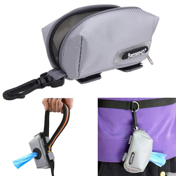 Pet Dog Mini Travel Garbage Bag Puppy Dog Excrement Bag Pet Refuse Bag Canvas Nylon Zipper Pet Poo Poop Waste Scoop Bags