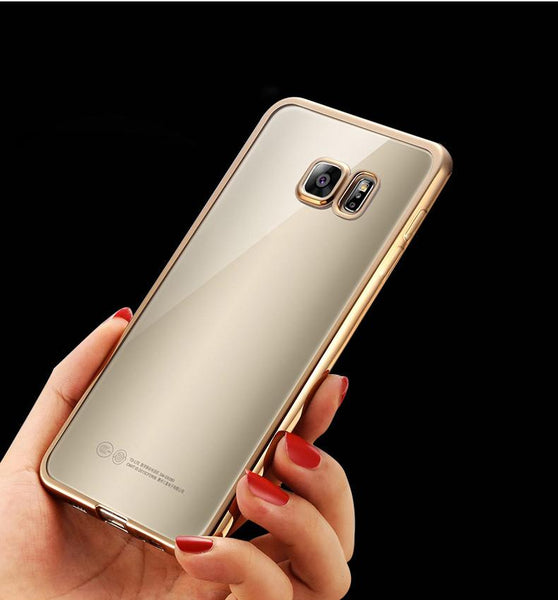 Plating TPU Soft Case For Samsung Galaxy S7 Edge S6 Edge S5 A3 A5 2016 Phone Cover For Iphone 5 5S SE 6 6S 6 plus Silicone Case