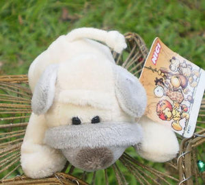 Plush toys Fridge Magnet toys white dog Baby doll Refrigerator Stick Plush toys catton Stuffed animals