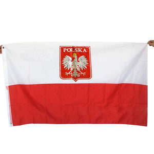 Poland Flag Nation 3ft x 5ft Polyester Banner Flying150* 90cm Custom flag All over the world Worldwide outdoor XN070
