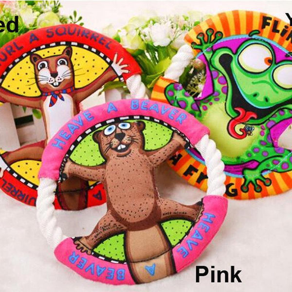 Popular Pet Toys Fat Cats Cartoon Frisbee Molar Tooth Cleaning Dog Toys Cat Toys Pet Supplies UFO Toys 3 Color