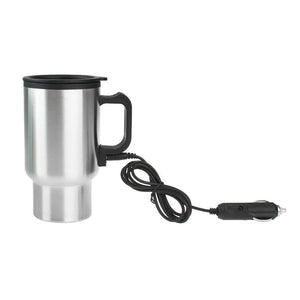 Practical car styling DC 12V Car 450ml Drink Coffee Water Milk Stainless Steel Bottle Warmer Heater