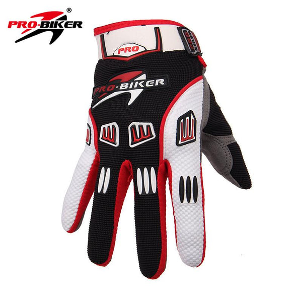 PRO-BIKER Motocross Off-Road Full Finger Gloves Racing Riding Motorcycle Gloves Breathable Bicycle Bike MTB Cycling Guantes