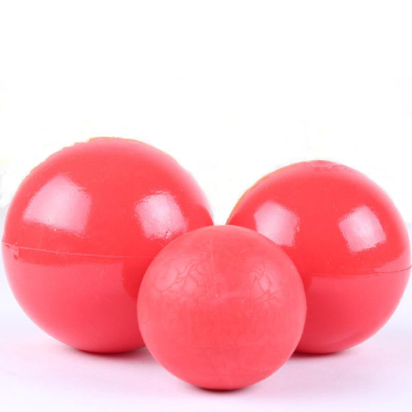 Products For Pet Puppy Dog Red Solid Natural Rubber Elastic Pet Ball Toys Bite Resistant Dog Toy Squeakers Training Toys