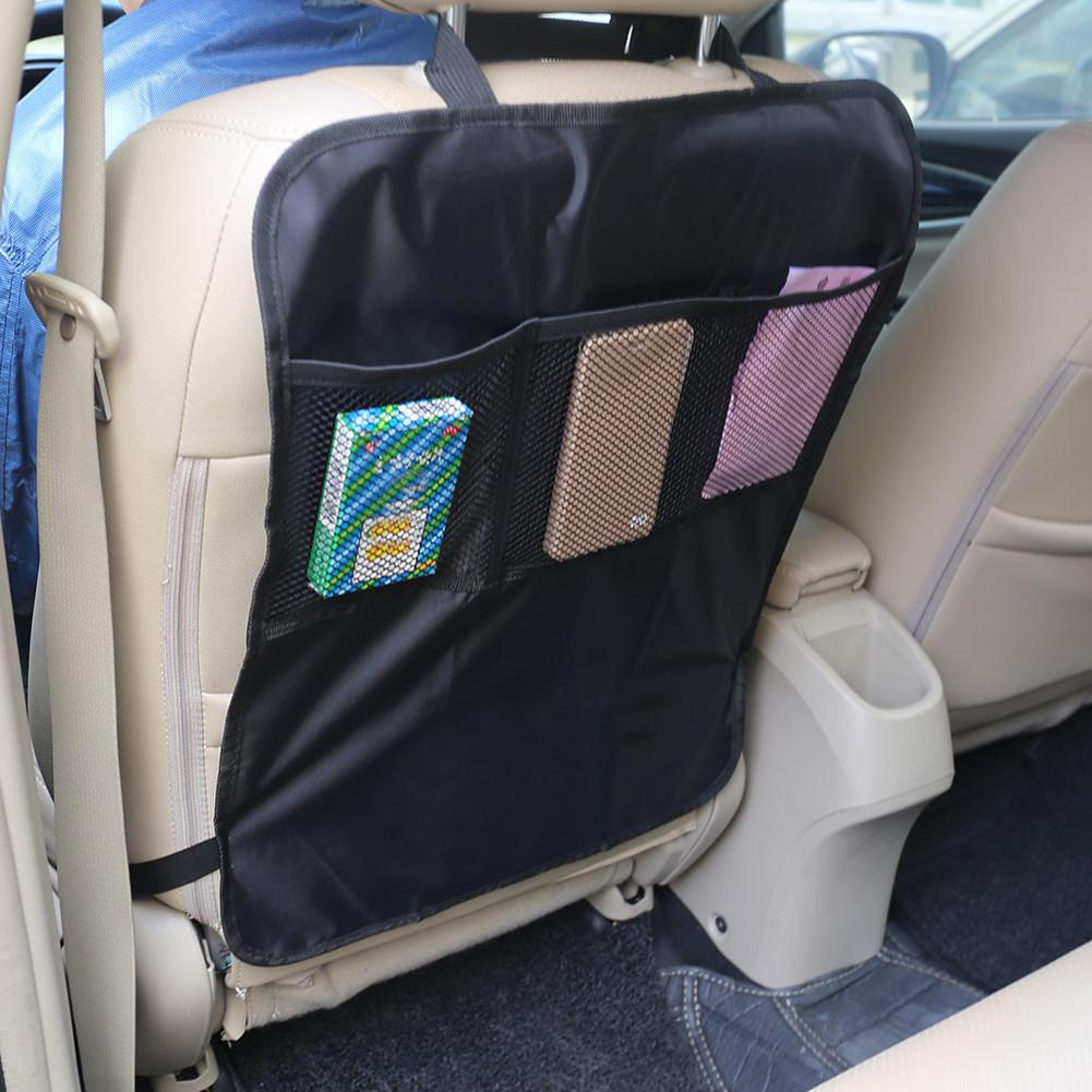 Protective Covers for Car Back Seats Black Mesh Seat Back Case Cover Protecting Mat for Children Baby Kick Mud Clean