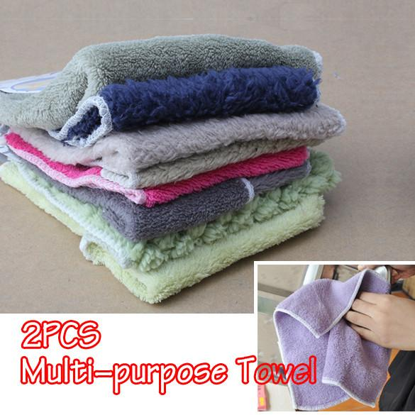 Random Color Microfiber Fiber Clean Cleaning Cloths Towel Nano Towel Universal Use (Random Color ONLY )