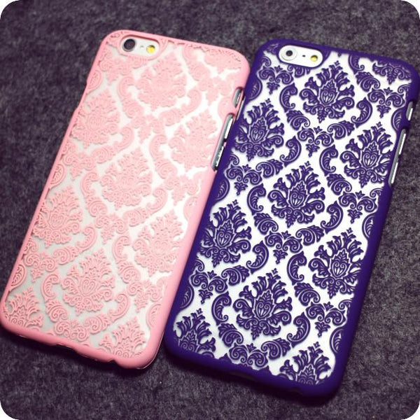 Retro Vintage Print Pattern Henna Floral Paisley Palace Flower Phone Cases Cover For iPhone 4G 5G 5S 5C 6G 6S 6Plus 7 7Plus