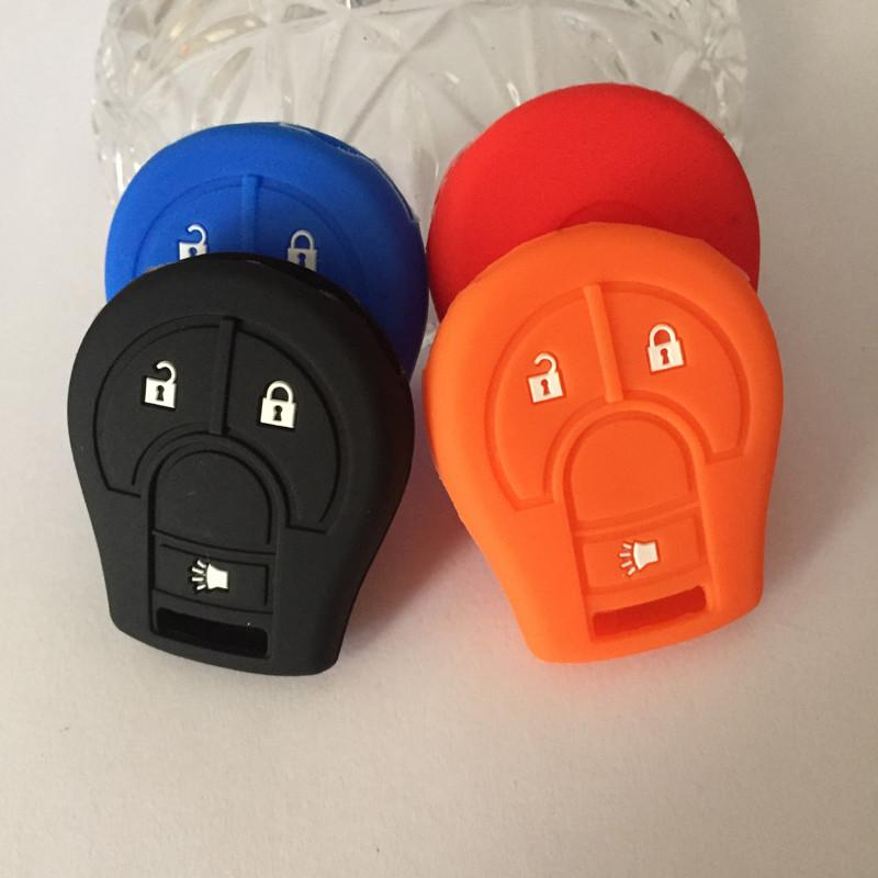 Silicone car key case Silicone key cover For Nissan 3 buttons car key case for Nissan car key shell