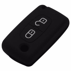 Silicone car remote key cover for Peugeot 208 207 308 RCZ 508 408 2008 407 307 206 for Citroen C4 C5 C3 C1 C2 C4L Xsara Picasso