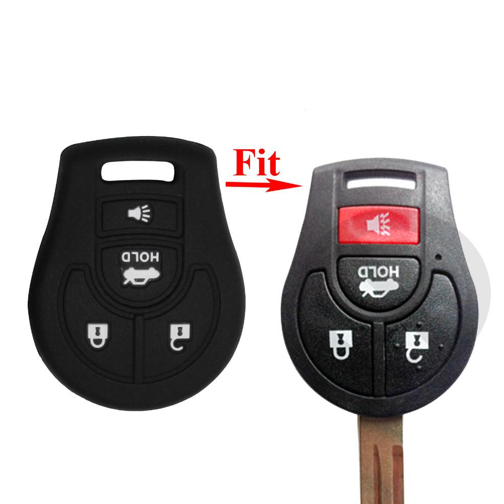 Silicone Case For Nissan Maxima Altima Sentra Versa Micra X-Trail Terrano Tiida Cube Juke 4 Buttons Car Key Shell Cover