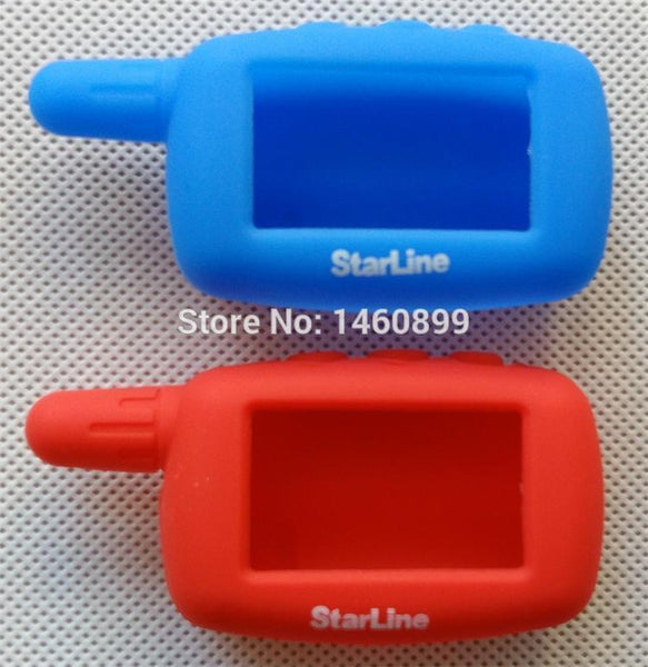 Silicone Key Case Cover Compatible with 2 Way Car Alarm System LCD Remote Control Key Fob Chain Starline A6 A9 A8 A4 Keychain