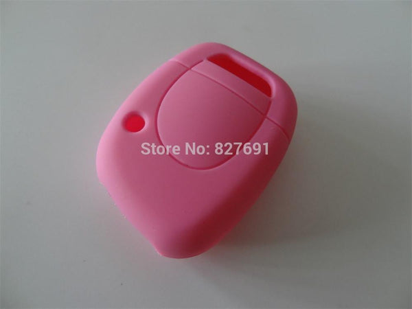 Silicone Key Shell Cover For Renault Clio Kangoo Twingo 1 Button Remote Key Blank Colorful for 1pc for car key