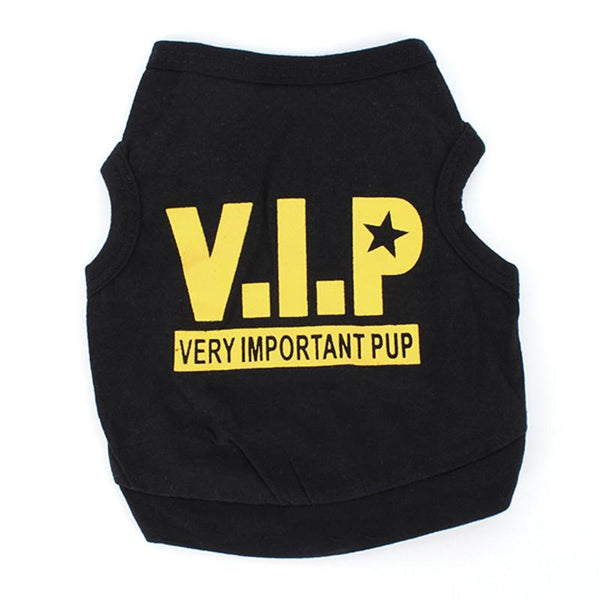 Small Dog T-shirt Pet Puppy Cat VIP Pattern Apparels Summer Clothes Tops AA