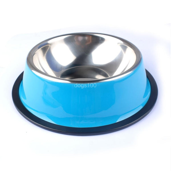 Stainless Steel Pet Puppy Cat Dog Food Drink Water Bowl Dish