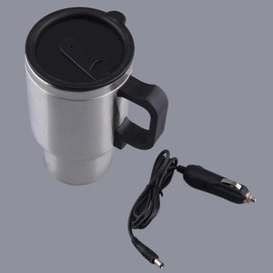 Stainless Steel Vehicle Mounted Cup Heated Travel Mug 12V 500ML + Cable
