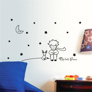 Stars Moon The Little Prince Boy Wall Sticker Home Decor Wall Decals DIY poster vinilos paredes quality first