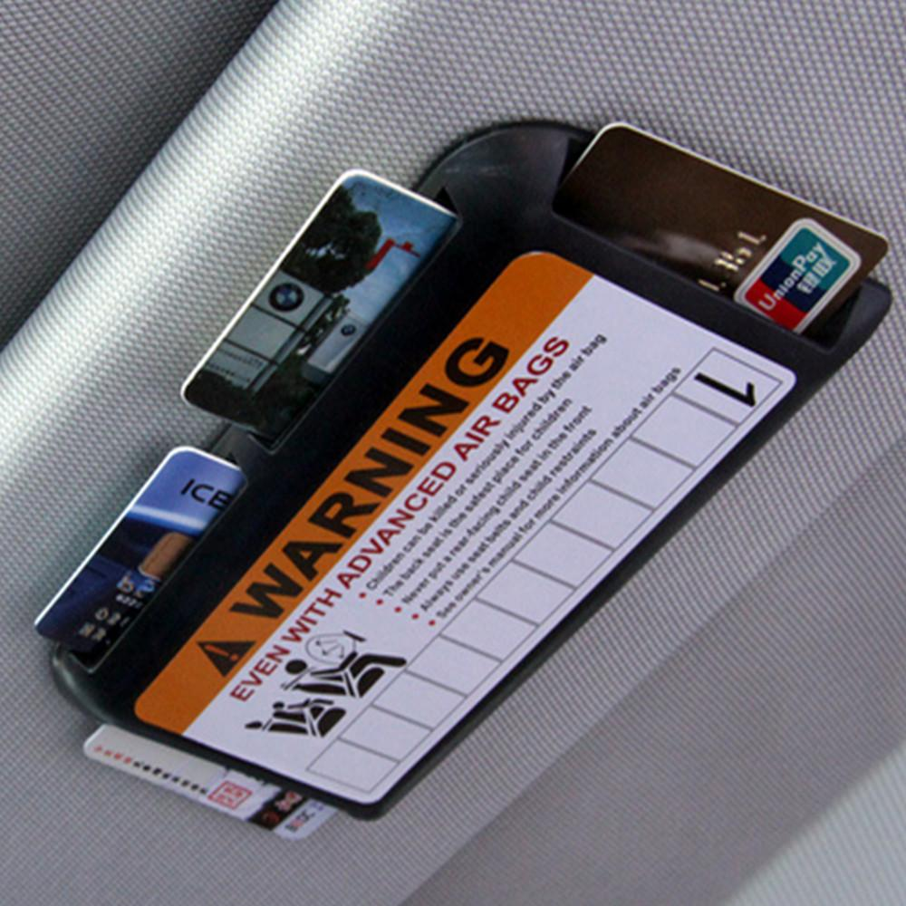 Temporary Parking Phone Number Car Visor Clip Organizer Car Parking Card Holder High-speed IC Card Clip Car-styling