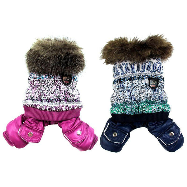 Thick Warm Jacket Winter Dog Clothes Pet Coat Clothing Hooded Jumpsuit Warm Clothes Warm Clothes Winter Clothing Jumpsuit Warm
