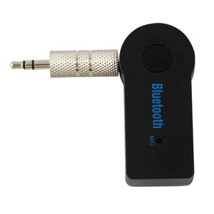 Universal 3.5mm Streaming Car A2DP Wireless Bluetooth Car Kit AUX Audio Music Receiver Adapter Hands with Mic For Phone MP3~