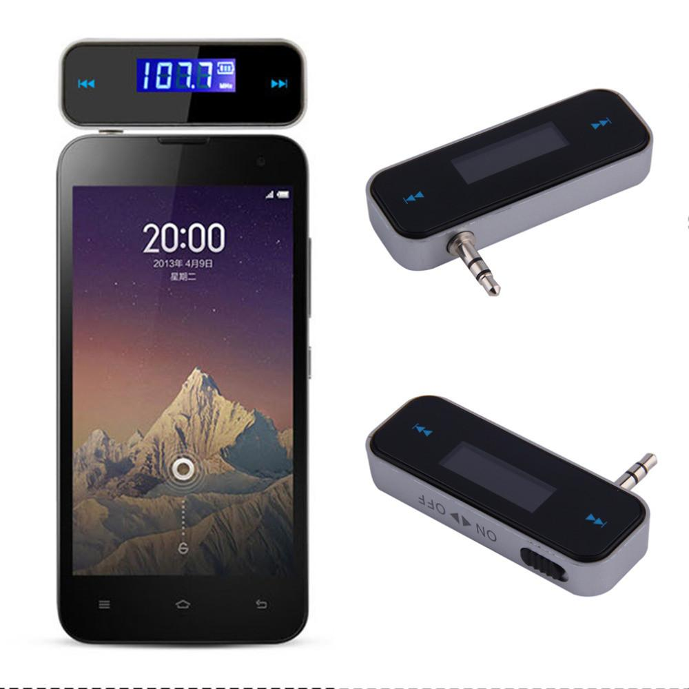 Universal 3.5mm Wireless Mini Car FM Transmitter Kit Music FM With USB Cable for iPod iPad iPhone 4 4S 5 5S 6 6S for Samsung