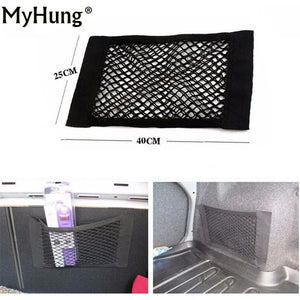 Universal Car Seat Back Storage Mesh Net car seat back organizer 40cm*25CM Luggage Holder Pocket Sticker Car-Styling