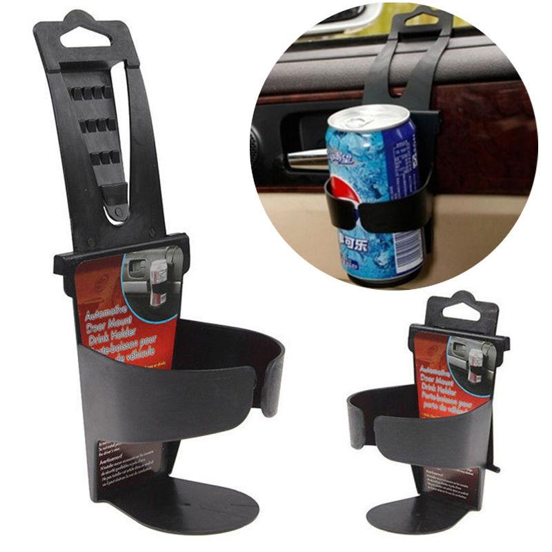 Vehicle Car Truck Automotive Door Drink Bottle Cup Clip Mount Holder Stand Black