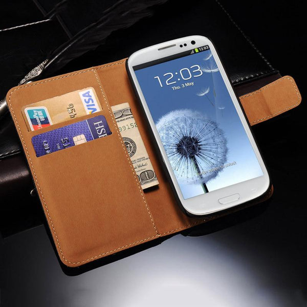 Wallet Flip Case For Samsung Galaxy S3 i9300 S3 Neo PU Leather Cover With Card Holders Stand Phone Bag For Galaxy S3
