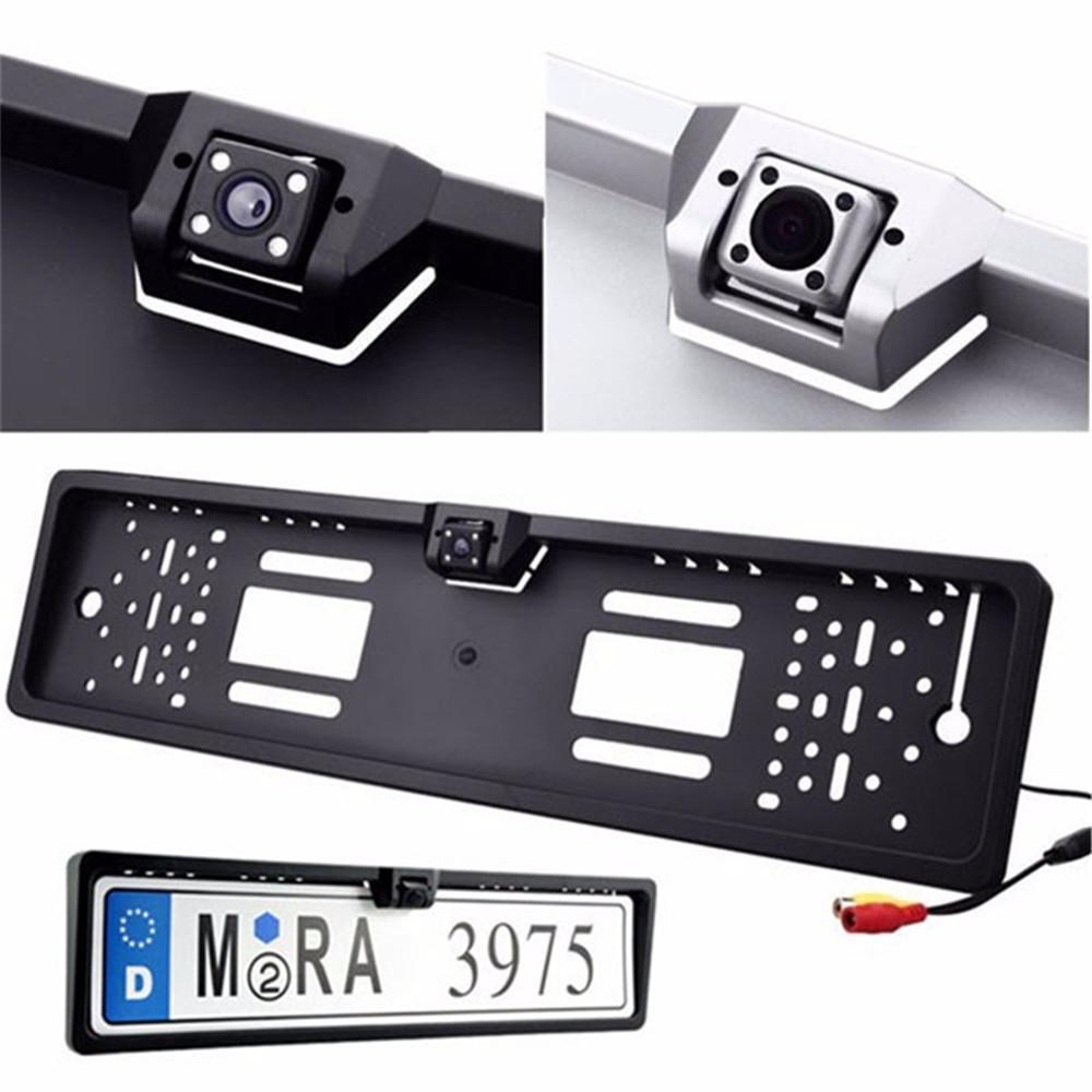 Waterproof Europe License Plate Frame with Rear View Camera