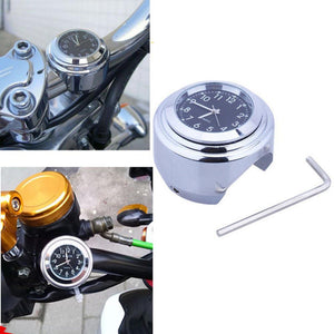 Waterproof Motorcycle Handlebar Watch Motorbike Handle Bar Clock Motorcycle Accessories Black and White Color
