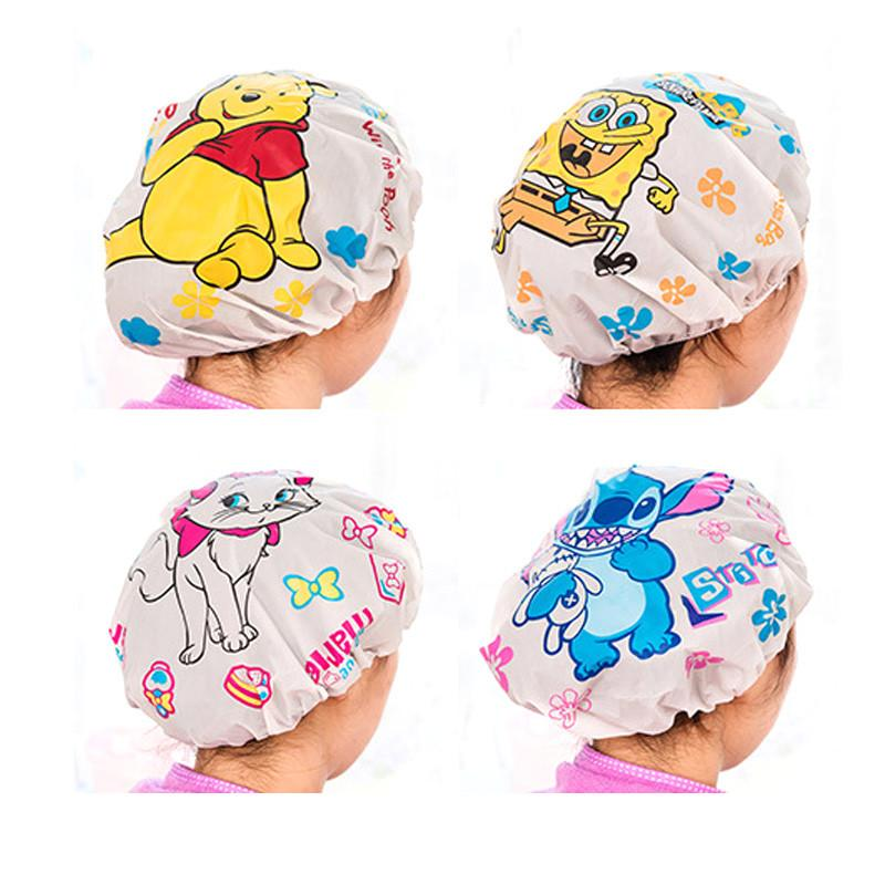 Waterproof Shower Cap Environmental Protection Bath Cap Fashion Shower Hat Bath s Beauty Care Accessories Bathroom Supplies