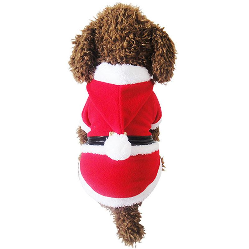 Winter Dog Cat Pet Clothes Christmas Pet Dog Clothes Santa Claus Costume Outwear Coat Hoodie dog coats jackets winter