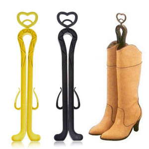 Women Boot Rack with Drying Agent Deodorization Clip Plastics High Top Boot Shaper Stretcher Shoes Hanger shoe holder