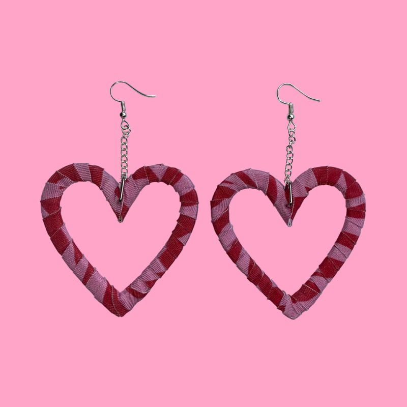 Pink n Red Zebra Heart Wraps