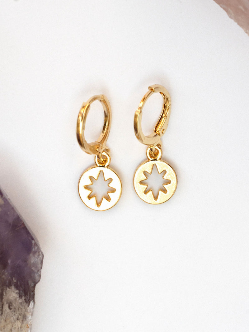 North Star Hoop Earrings