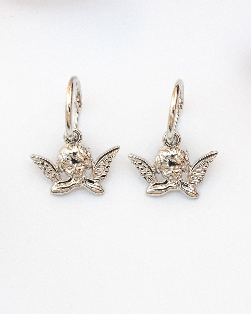 Cherub Hoop Earrings