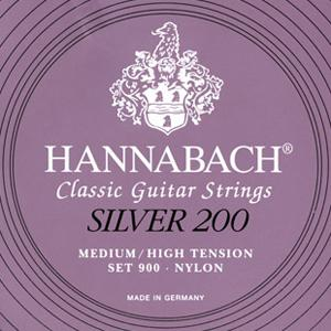 Hannabach Silver 200 Set 900 Medium/High Tension