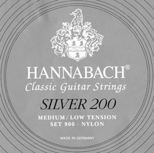Hannabach Silver 200 Set 900 Medium/Low Tension