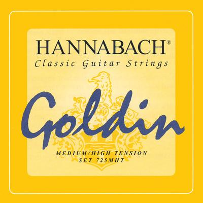 Hannabach Goldin 725MHT - Classical Guitar Strings - Basses Only