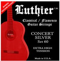 Luthier Set 60 - Concert Silver - Classical Guitar Strings