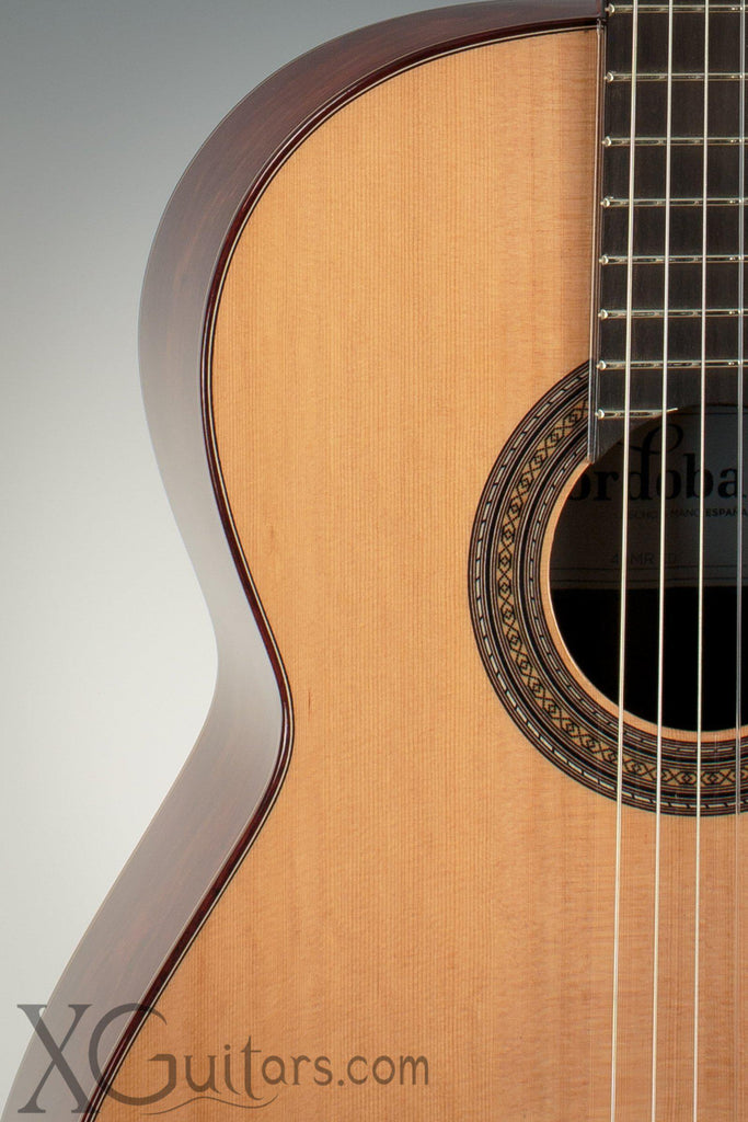 Cordoba 45MR classical guitar corner