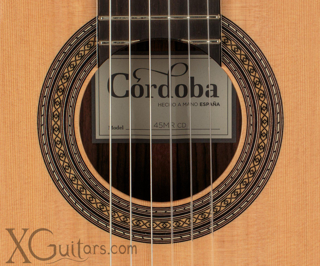 Cordoba 45MR classical guitar rosette
