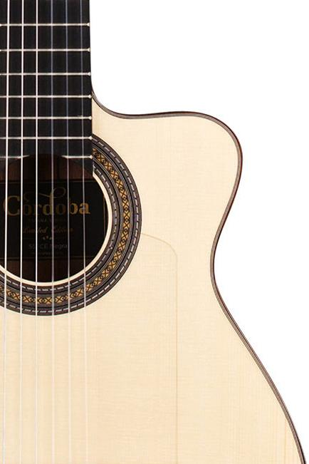 Cordoba 55FCE Negra Ziricote Thin Body Flamenco Guitar