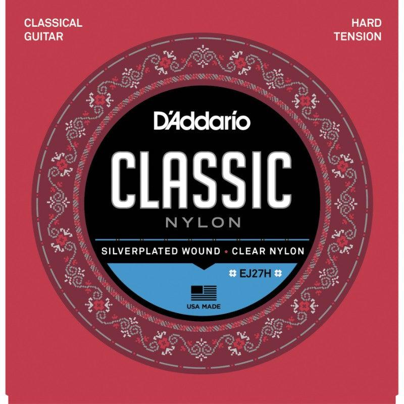 D'Addario<br> EJ27H Classic Clear Nylon<br> Hard Tension<br> Classical Guitar Strings