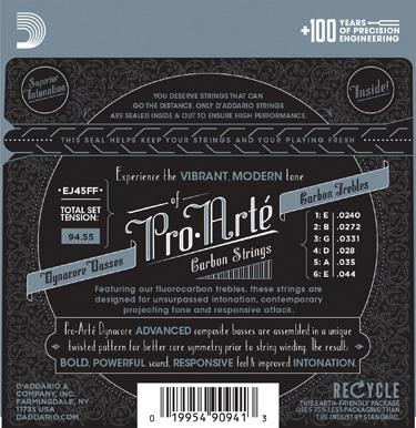 D'Addario EJ45FF Pro Arte Dynacore/Carbon Normal Tension Classical Guitar Strings image 3