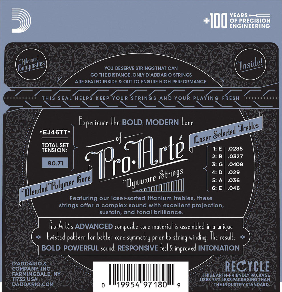 D'Addario EJ46TT Pro Arte Dynacore Hard Tension Classical Guitar Strings image 3