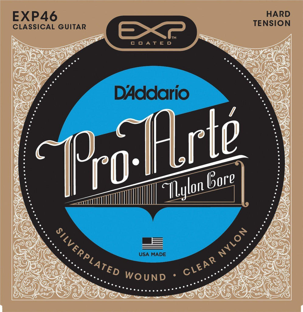 D'Addario EXP46 Pro Arte Coated Composite Hard Tension Classical Guitar Strings
