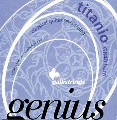 Galli Genius GR40 Titanio - Hard Tension Classical Guitar Strings